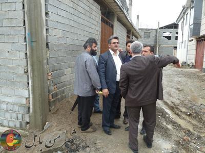 بازدید اعضای شورای اسلامی  شهرو شهرداربابل از کوی پاسداران بابل