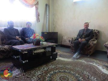 دیدار شهردار و اعضاء بسیج پایگاه شهید بیژنی از خانواده شهید غلام رضا کاظمی گنجی