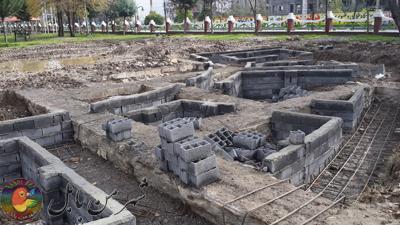 مجتمع هنری فرهنگی نارنج درپارک نوشیروانی  بابل درحال احداث است
