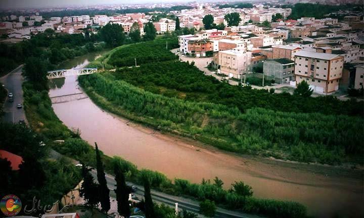 بابلرود در گذر از غرب شهر بابل