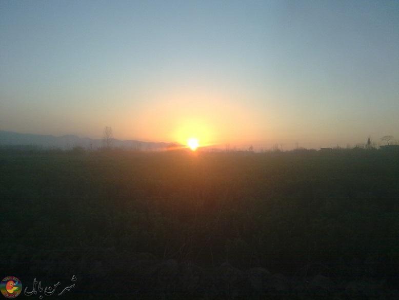 غروب زیبای آفتاب بندپی