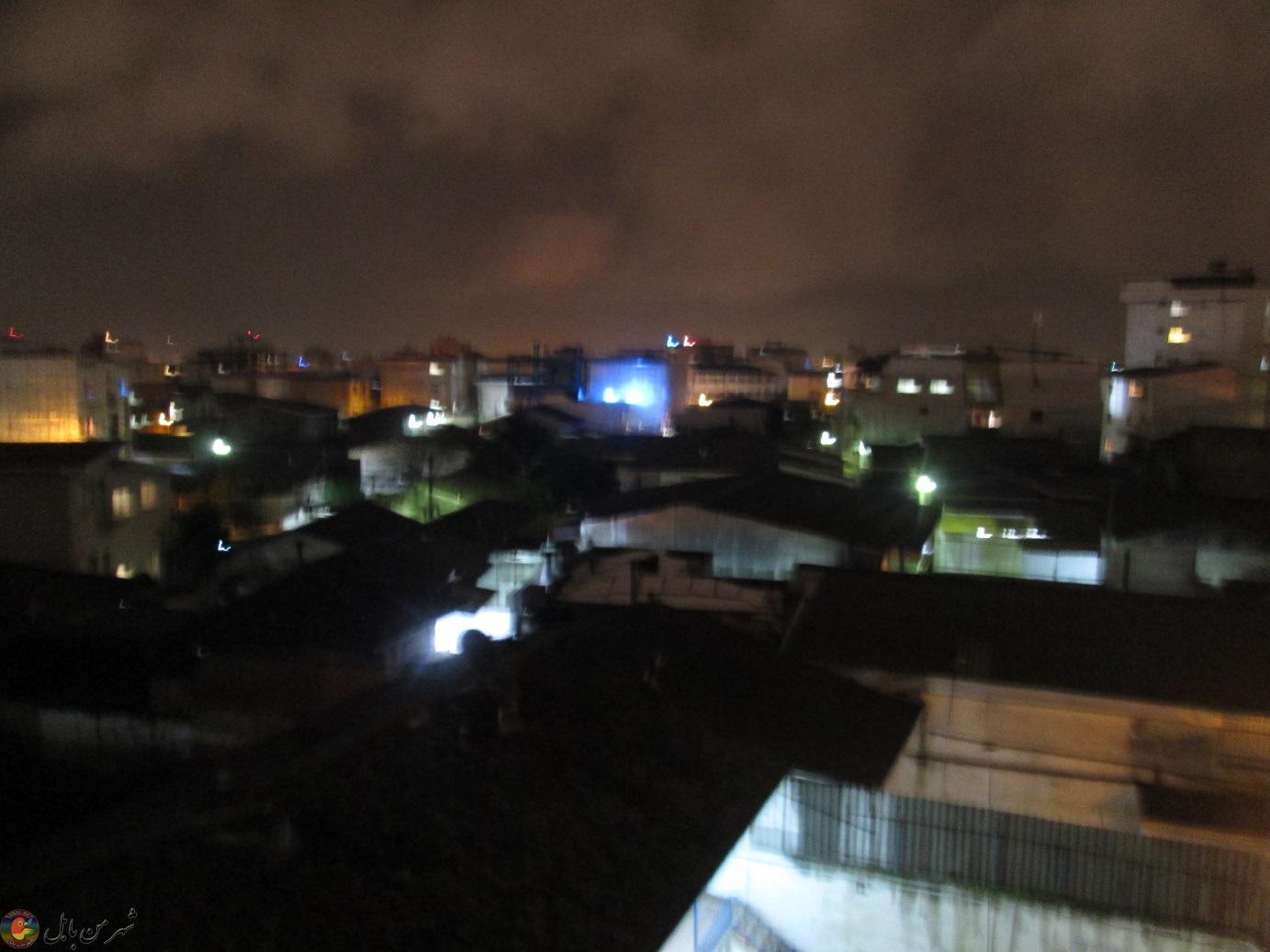 آسمان زیبای بابل در شب