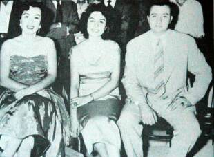 از راست: پرویز خطیبی، زینت مؤدب و دلکش. آهنگ مشهور «بردی از یادم» دلکش را پرویز خطیبی سرودهاست.